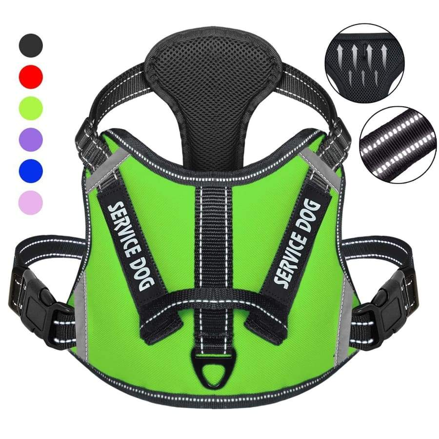Service Dog Harness,No-Pull Dog Harness with Handle,Adjustable Comfort Pet Dog Vest Harness for Outdoor   Walking,3M Reflective Vest Easy Control for Small Medium Large Breed
