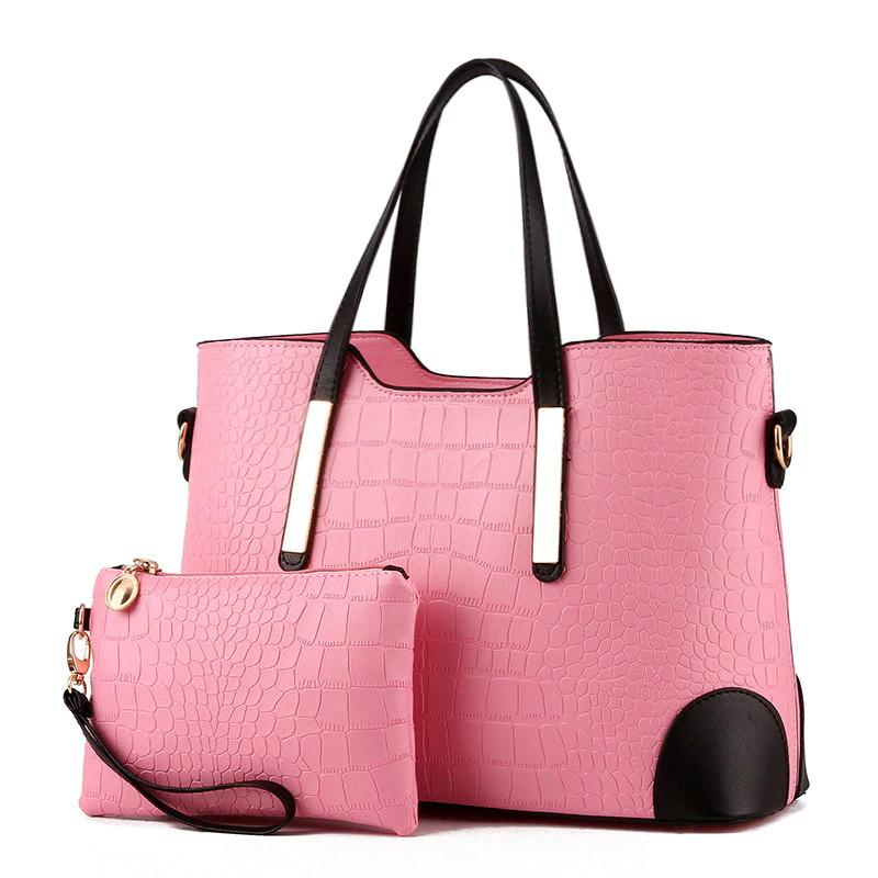 Two-piece crocodile pattern ladies bag