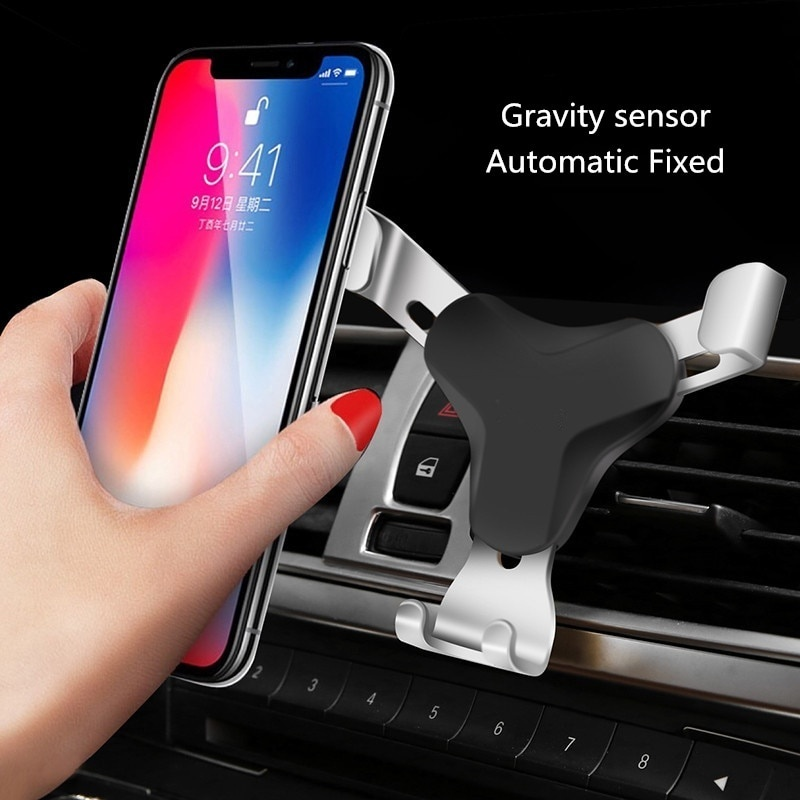 New 4 Colors Gravity Bracket Car Phone Holder Flexible Universal Car Gravity Holder Support Mobile Phone Stand for Cell Phone