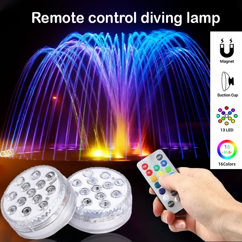💋BUY 2 GET 1 FREE 💋-Remote control diving lamp with magnet sucker!
