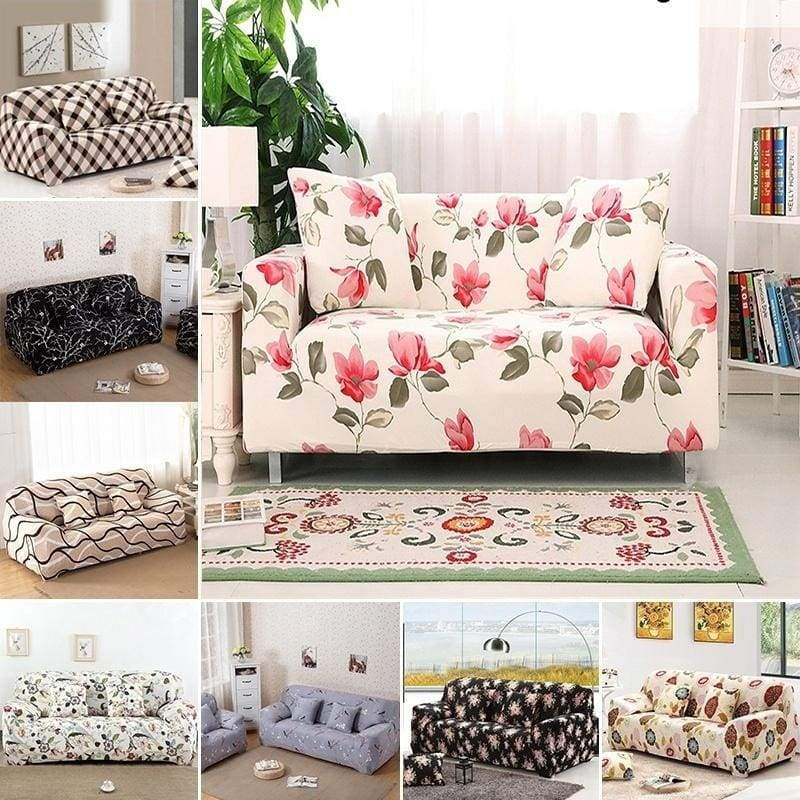 18 Color Home Furniture Stretch Polyester Sofa Furniture Cover European Art  Print New Cloth Machine Washable Sofa Cover