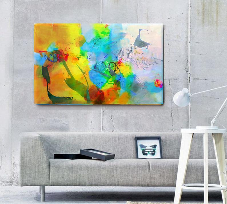 Fine art original painting, wall art for living room, acrylic painting canvas handmade, abstract canvas art original, large abstract art