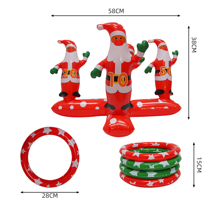 Christmas Hoop toys Christmas hoop game children throwing game