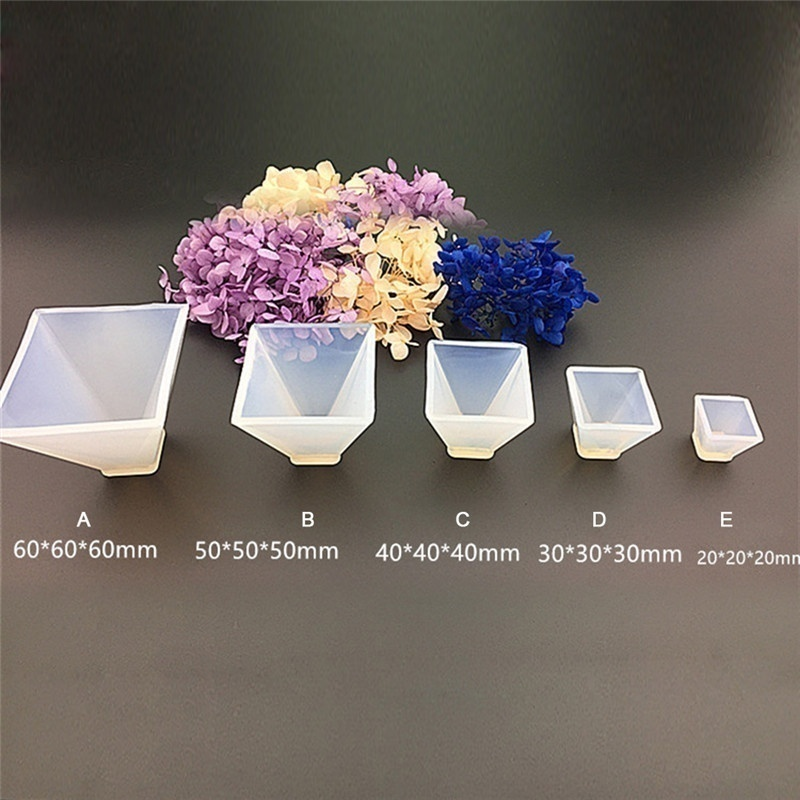 5size DIY Pyramid Silicone Mould DIY Resin Decorative Craft Jewelry Making Mold Resin Molds