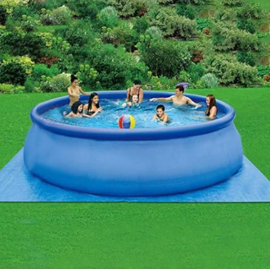2020 Popular Multiple Sizes Easy Set Inflatable Swimming Pool With Air Pump