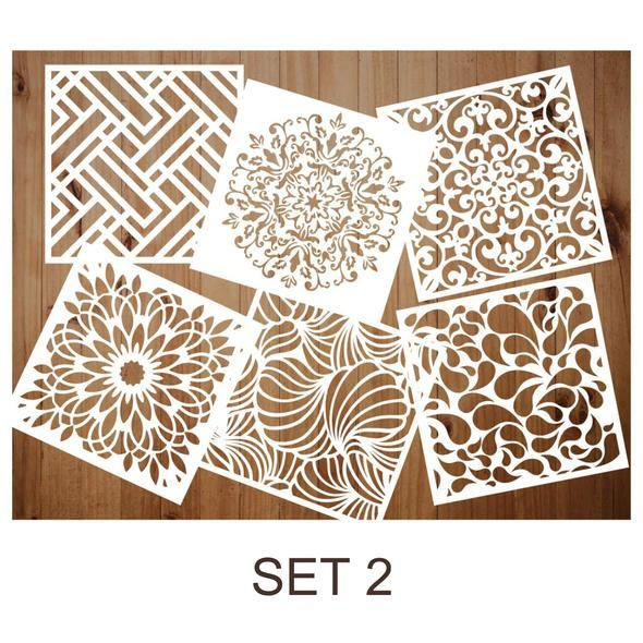 (Last Day Promotion 60% OFF) - 6 Pack Premium Quality Reusable Stencils, Buy 3 Get Extra $ 5 discount & Free Shipping