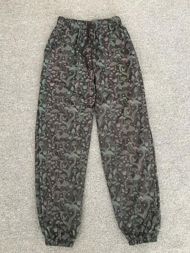 Printed reflective pants super cool casual pants