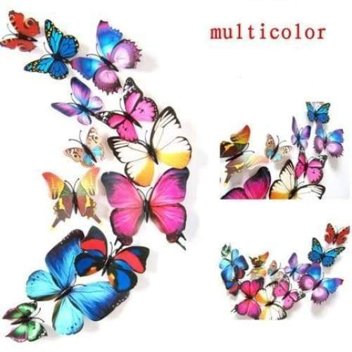 3D Butterfly Sticker Art Design Decal Wall Stickers Home Decor Room Decorations