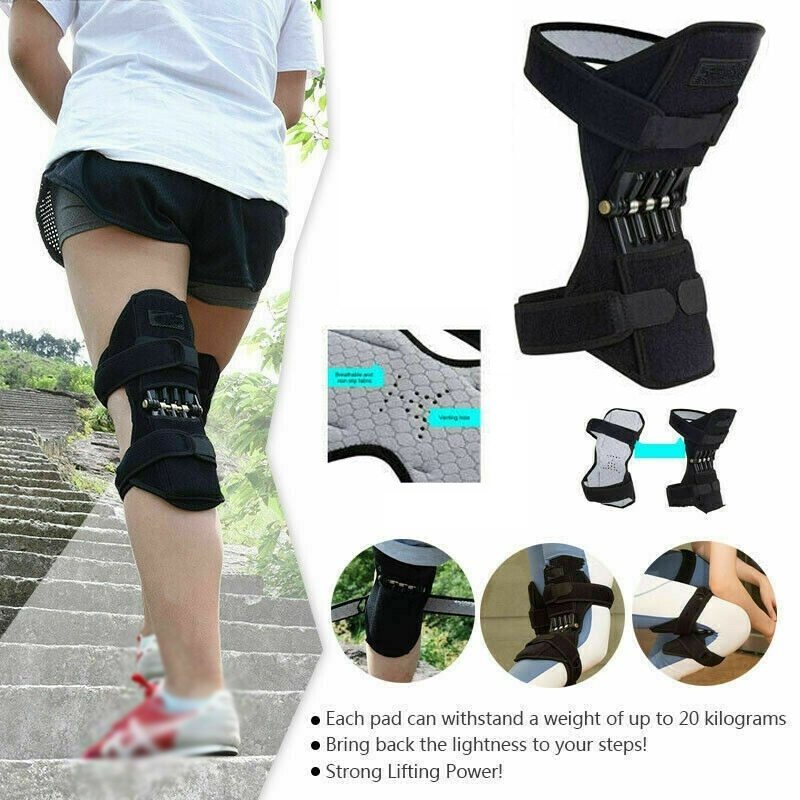 Breathable Non-Slip Knee Protector brace Support Joint Knee Pads Power Lift Pads Rebound Spring Force Knee Booster Leg Protector