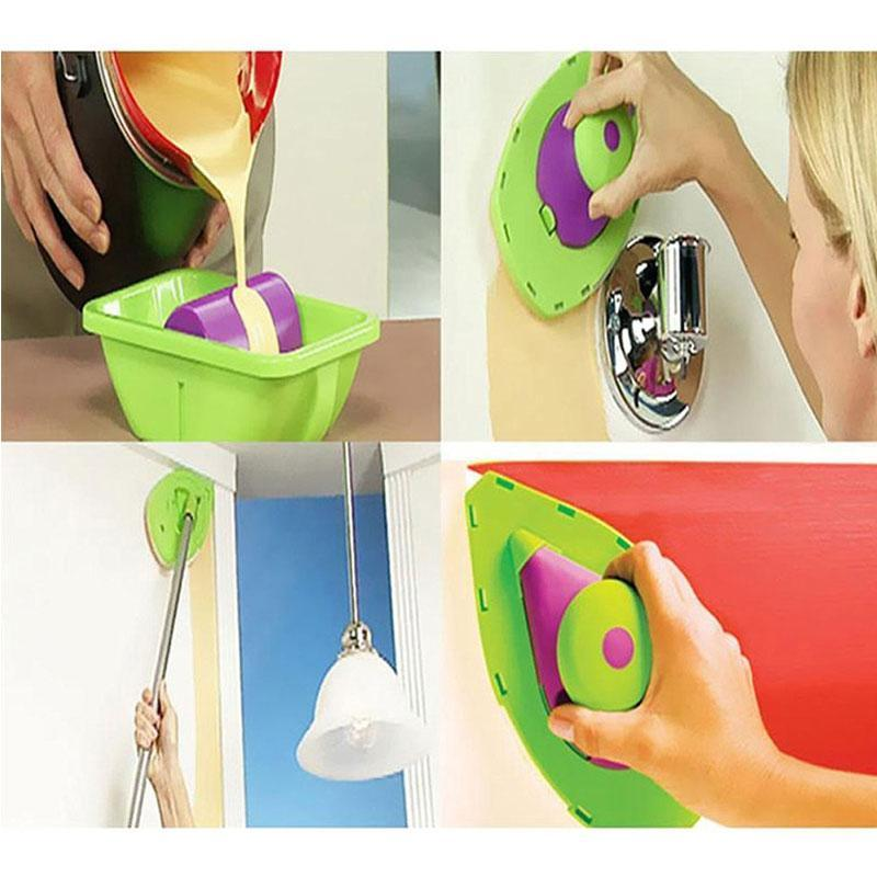 Spill-proof Paint Roller and Tray Set Paint Pad Pro
