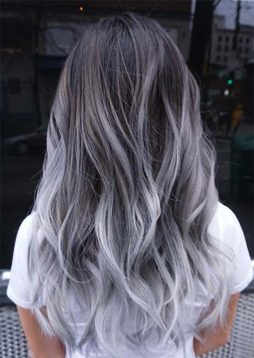 2020 New Gray Hair Wigs For African American Women Water Wave Lace Wig Grayish Purple Hair Human Hair Blend Gray Touch Up Pastel Rainbow Wig
