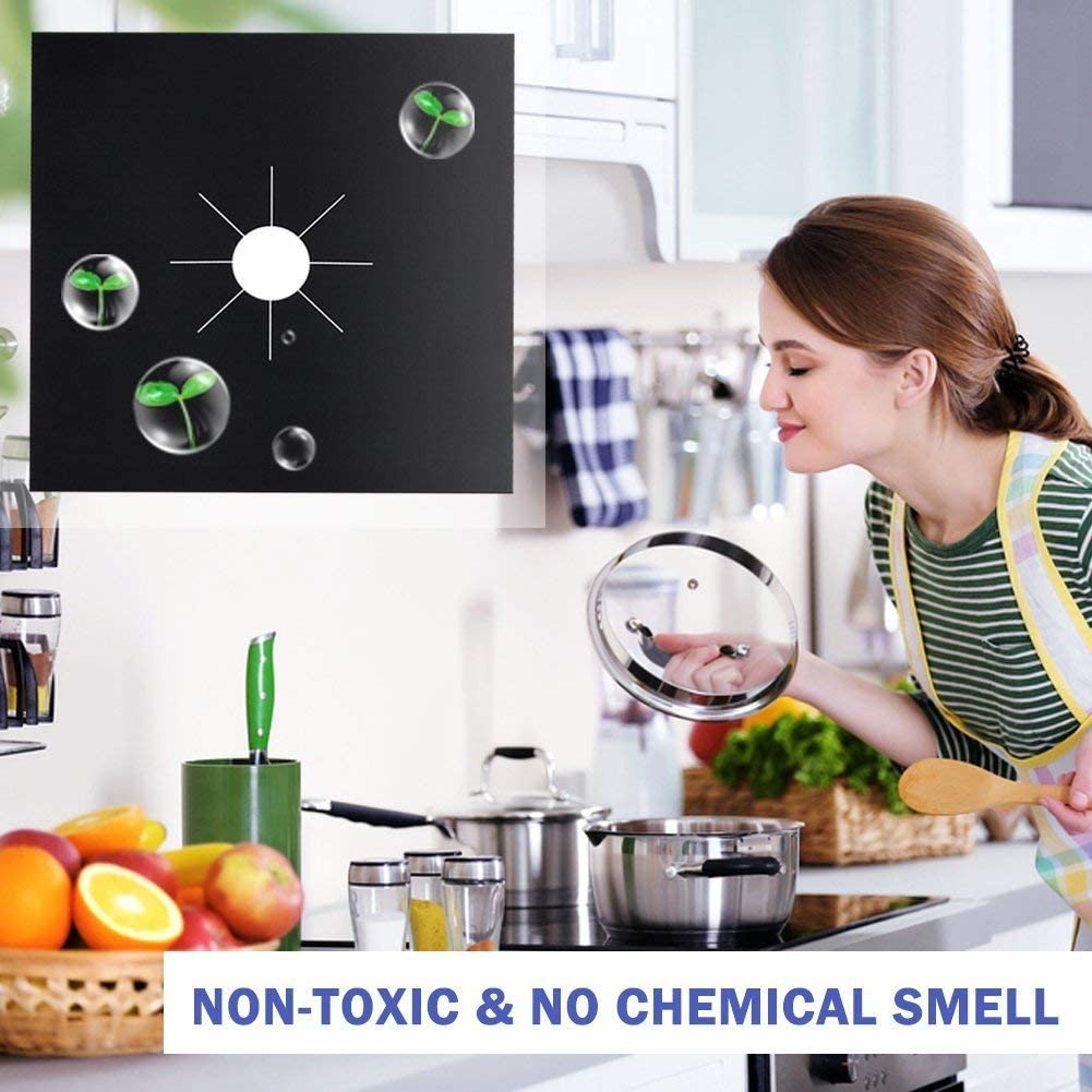Home Reusable Gas Range Stovetop Burner Protector Liner Cover For Cleaning Kitchen Tools
