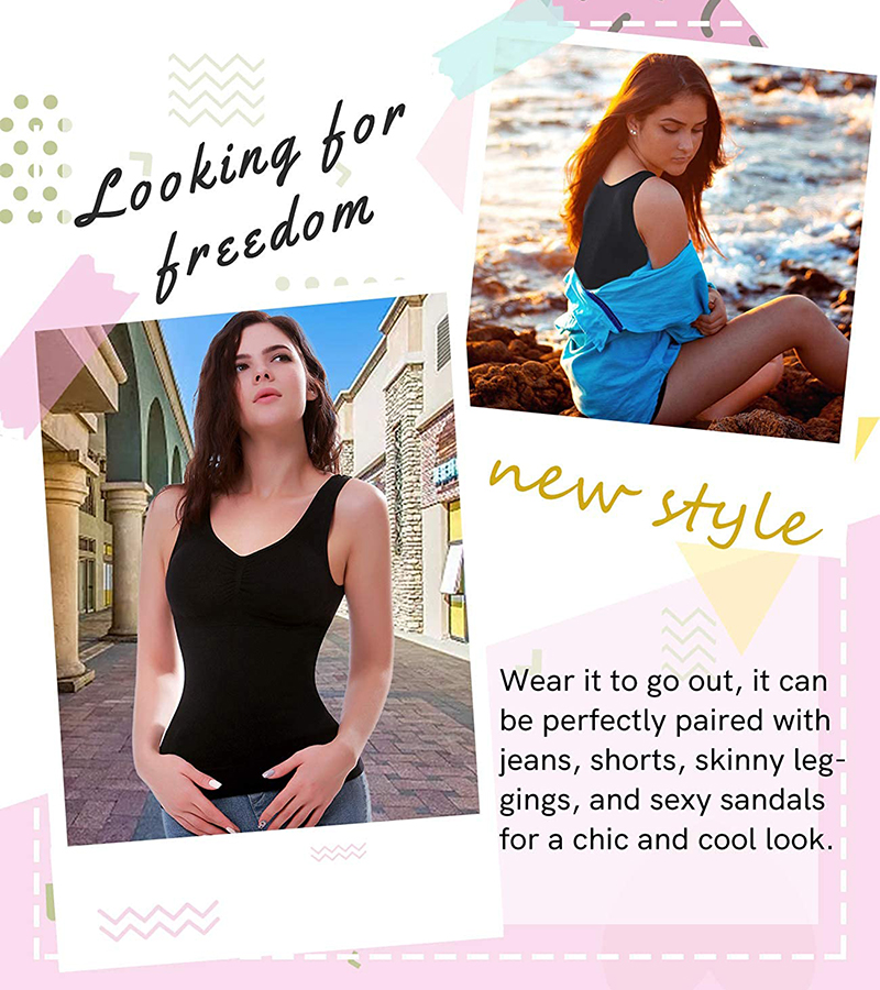 (💝BUY 2+ GET EXTRA 20% OFF )Comfortable Wireless Cami Tank Top
