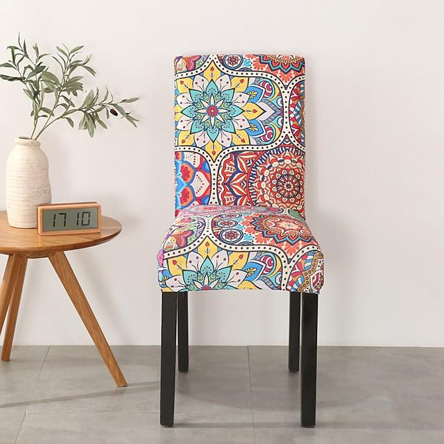 Chair Cover Romantic / Multi Color / Scenery Printed Polyester Slipcovers