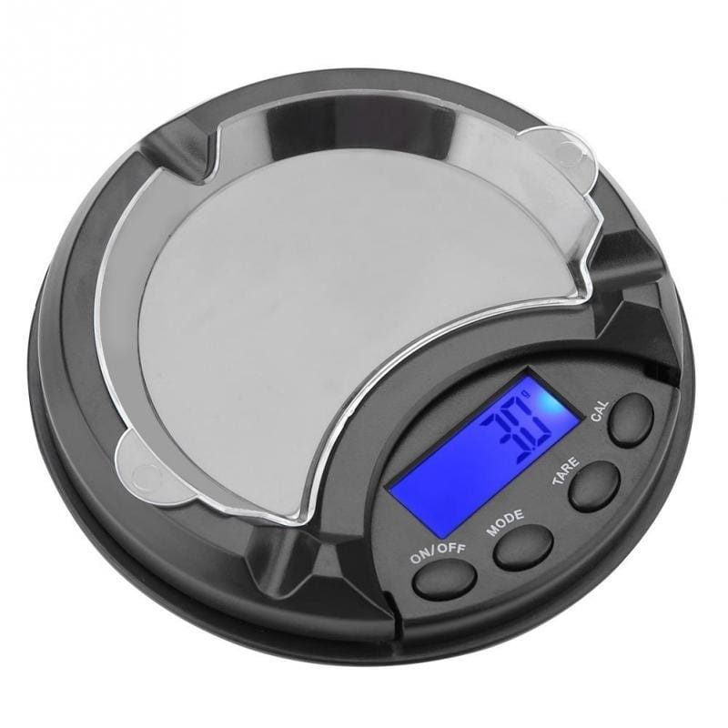 100g/200g/500g Portable Ashtray Electronic Digital Jewelry Precision Scale With Digital Display 0.01g