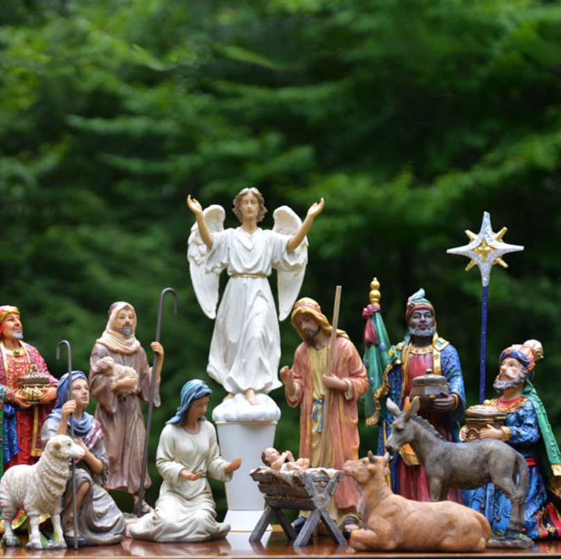 [God's Christmas Gift]The Real Life Nativity Figurines -- Nice Show of Your Belief in Christianity