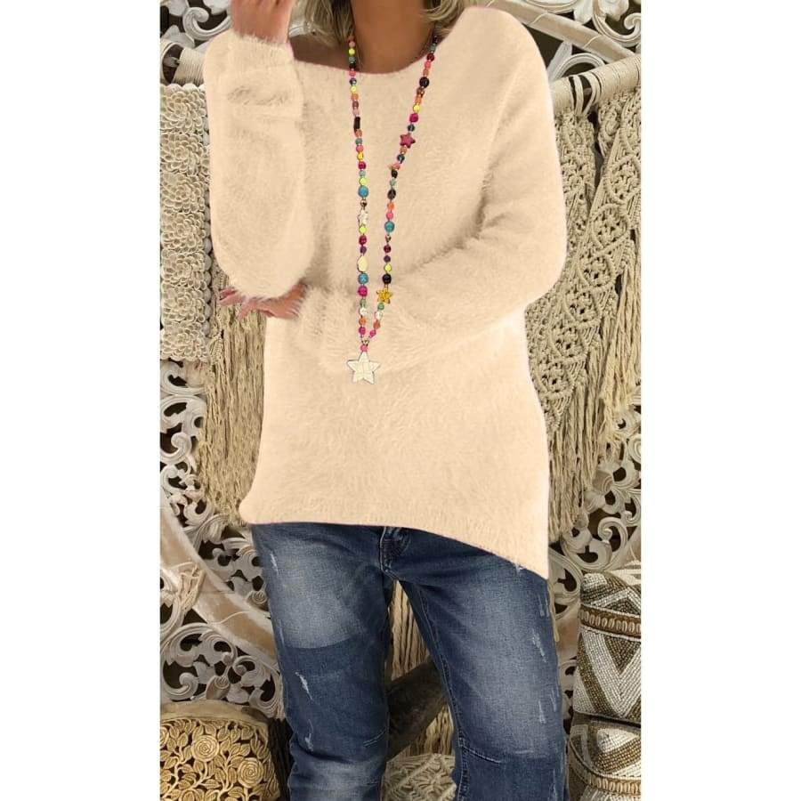 New Women Fashion Long Sleeve Knitted Sweaters Solid Color Warm Pullover Tops Autumn winter Plus Size XS-5XL
