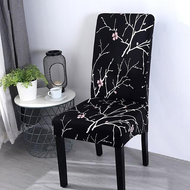 Chair Cover Floral / Romantic / Classic Printed Polyester Slipcovers