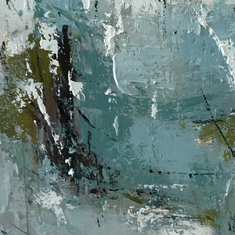 Hand painted dark green abstract oil painting artist home decorative art abstract canvas oil painting