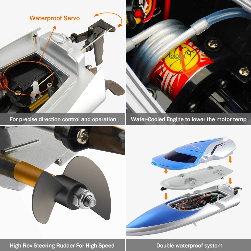 GizmoVine RC Boat High Speed (20MPH+) RC Boats