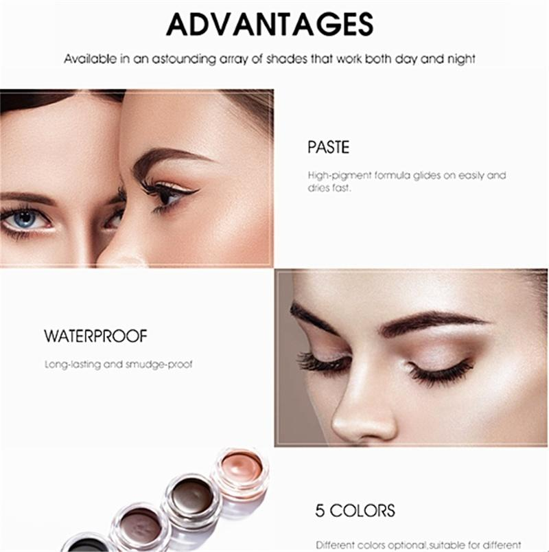 1 Pc Makeup Eyebrow Dye Gel Waterproof Shadow for Eye Brow Long Lasting Tint Shade Make Up Paint Pomade Cosmetic with Brush