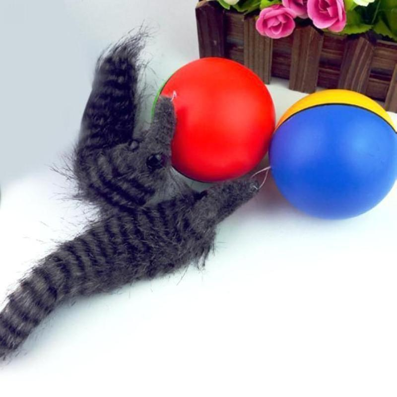 SKRTEN Battery Operated Weasel Activation Ball Interactive Cat Toy