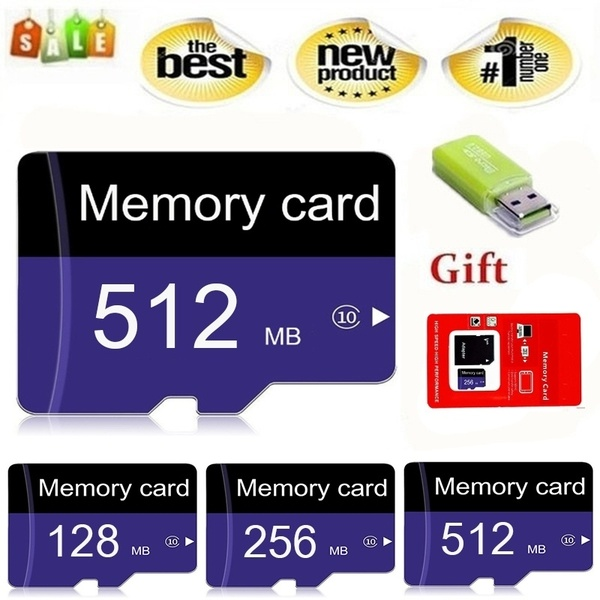 512MB 256MB 128MB Micro SD card memory card +SD card reader + adapter card reader for Mobile/pc
