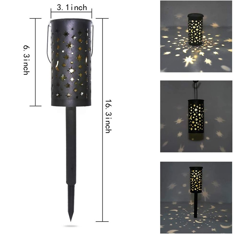 Solar Lamp With Beautiful Light Of Stars And Moon