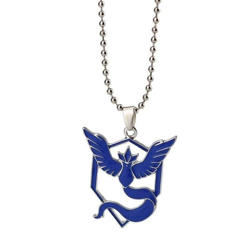 Fashion Pokemon Metal Chain Pendant Necklace Team Valor Mystic Instinct Unisex Beads Chain Necklaces Toys Games Women Jewelry Gifts