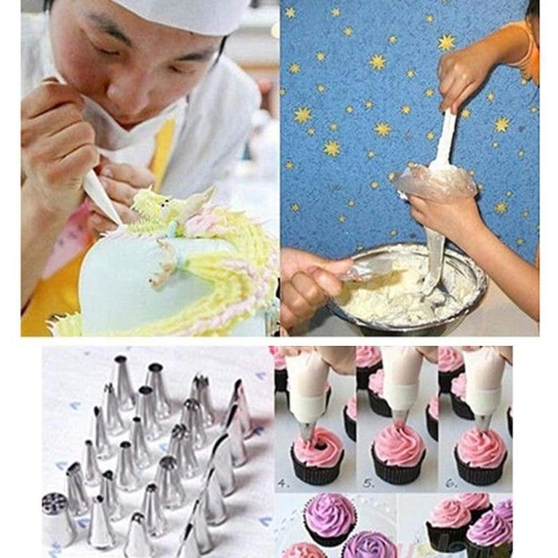 Bags 100pcs disposable icing nozzle pastry tool triangle