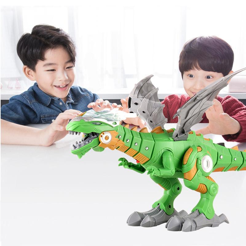 Electric Intelligent Breathing Realistic Fire Robot Dinosaur with Sound/Lights