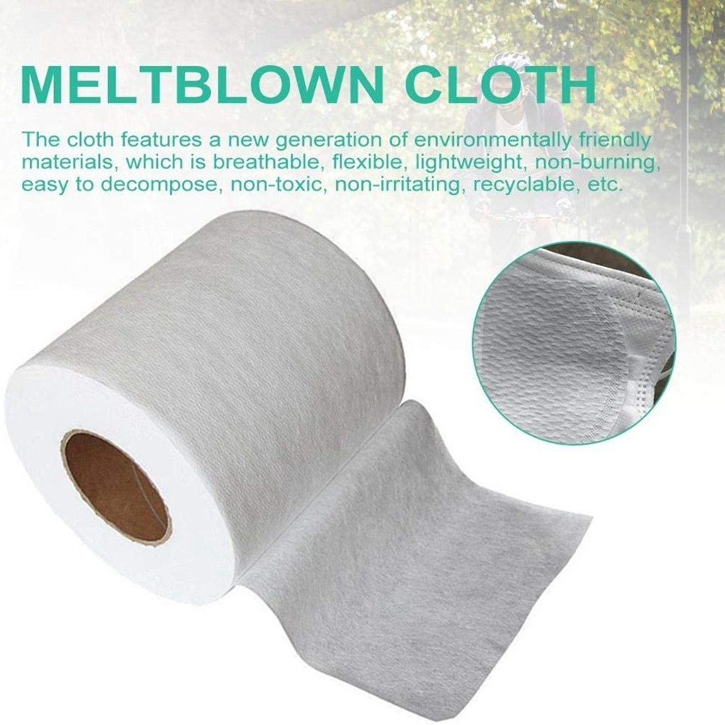 10M/20M/30M Disposable Mouth Mask Filter Fabric Meltblown Nonwoven Fabric Original Cloth Material Filter Fabric For Face Mask