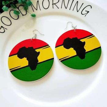 Hot Sale fashion New style Arrival Unique wooden african earrings
