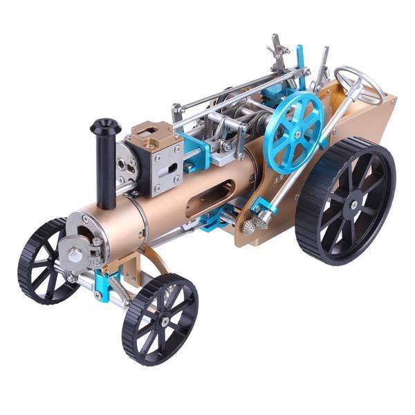 Steam Car Engine Assembly Kit Full Metal Car Engine DIY Build Kit for Gift Collection