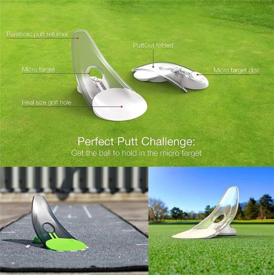 Home Office ABS Indoor Outdoor Foldable For Golf Pressure Putt Trainer