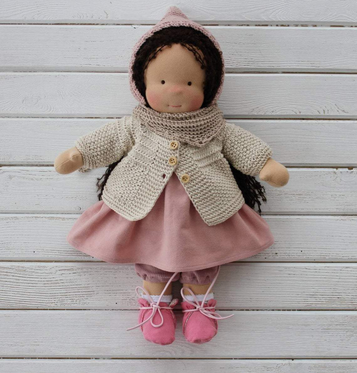 Custom order Waldorf doll with big set of clothes and accessories(PRE ORDER.NEXT SHIPPING DAY 15 DAYS)