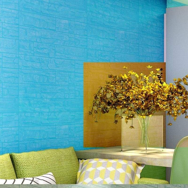 10Pcs 3D PE Foam Brick Peel and Stick Wallpaper Peel and Stick Wallpaper for House Decor(Size:60*30cm)
