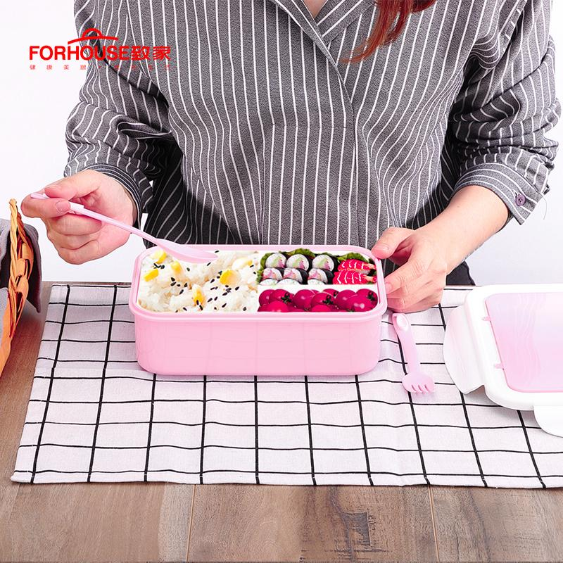 1400ml microwavable ese lunch box food storage container bento spoons chopsticks