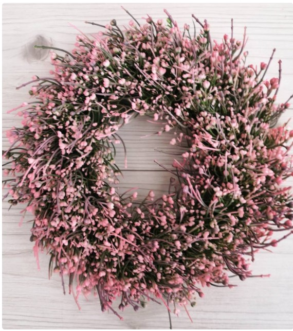 Spring wreath for front door - White and green everyday wreath - Welcome year round wreath