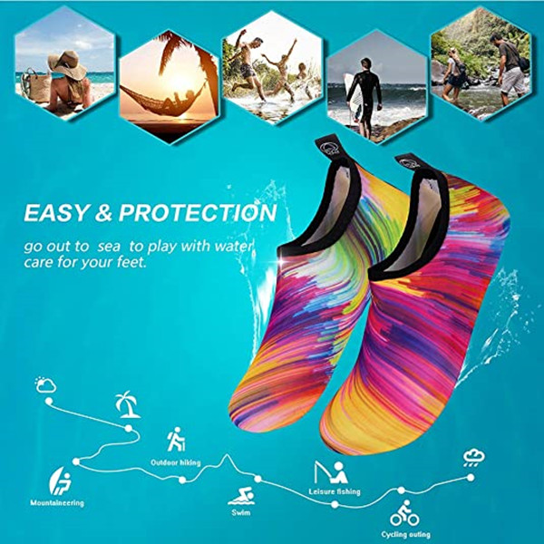 🔥Summer Sale🔥Womens and Mens Water Shoes Barefoot Quick-Dry Aqua Socks