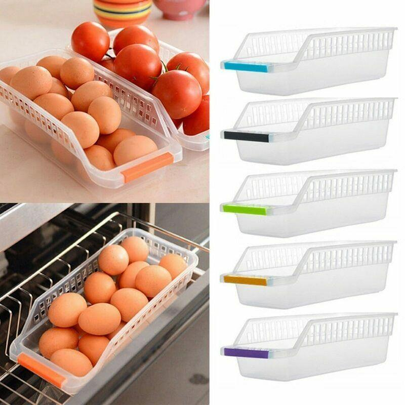 Hoomall® Hollowed-out Drawer Plastic Refrigerator Storage Box For DrinksIcebox