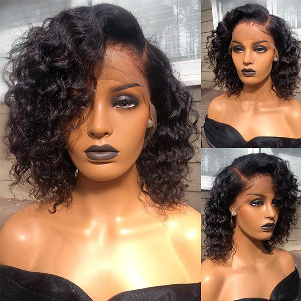 SUMMER CELEBRITY STYLE CURLY FRONTAL LACE WIG