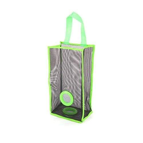 Hanging Mesh Garbage Bag Organizer Kitchen Wall Mount Reusable Grocery Bags Holder Convenient Pouch Bag Storage