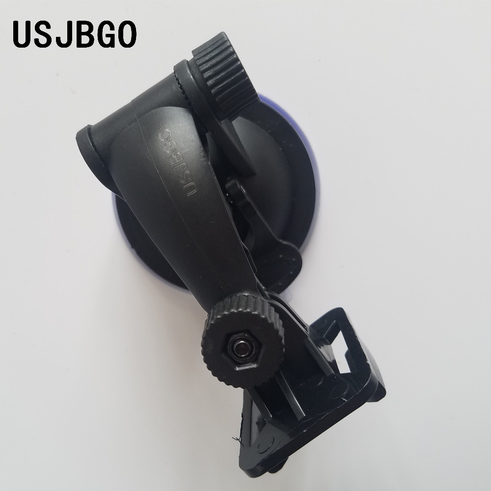 USJBGO Car Windscreen Universal Suction Cup Mount Car for Windshield Dash Cam Camera Camcorder Mount Holder Stand 360 Rotation with 60cm Stainless Steel Tether and 1/4 Thread to Action Camera