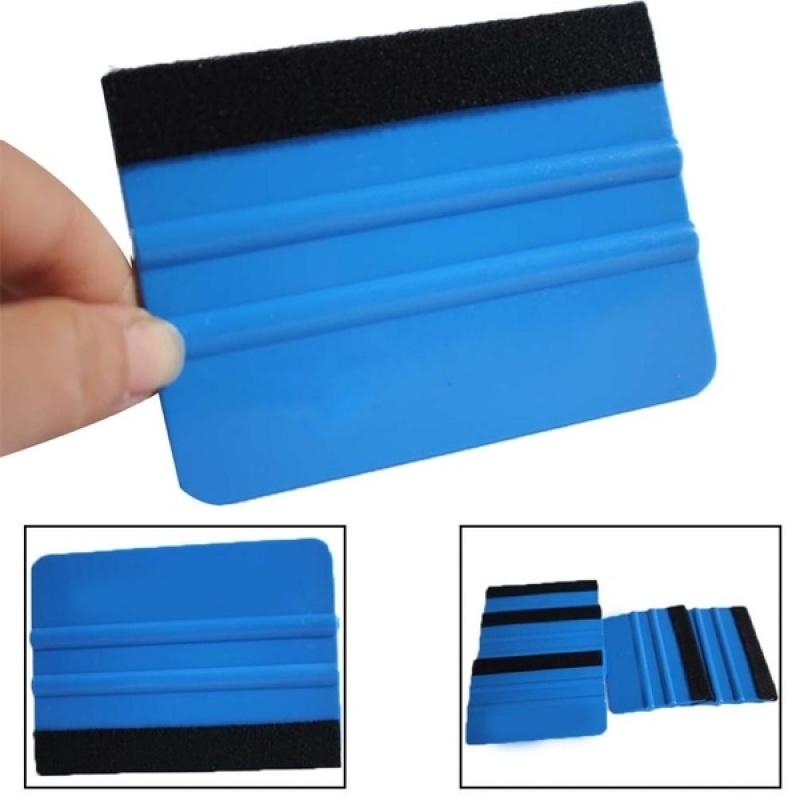 10Pcs Blue Squeegee Felt Edge Scraper, Car Decals Vinyl Wrapping & Tint Tools