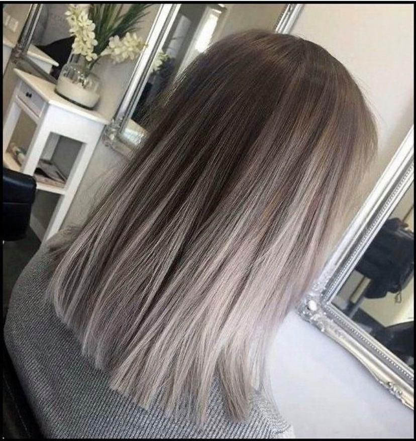 2020 New Gray Hair Wigs For African American Women Funny Wigs Slate Grey Hair Best Synthetic Wigs Reverse Gray Hair Permanently Blunt Cut Bob Wig