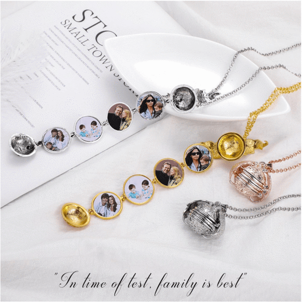 🎀(Buy 1 Get 1 Free) Magic Expanding 4/5 Photos Angel Wings Locket Necklace