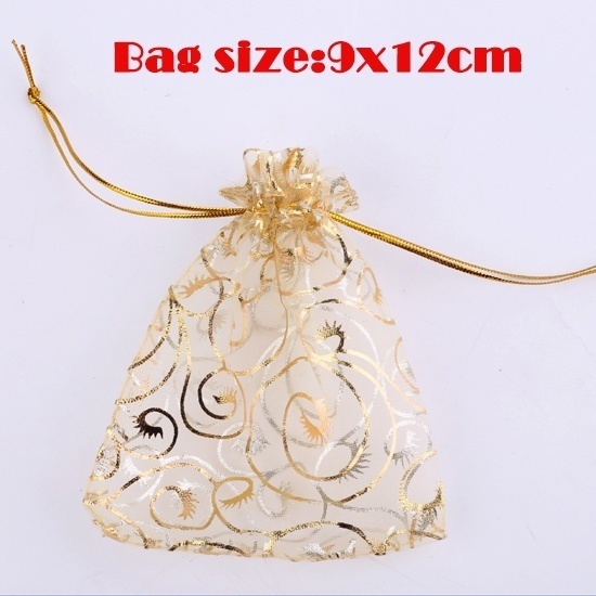 30PCS Organza Drawstring Bag Jewelry Party festive gift bag cosmetic bag