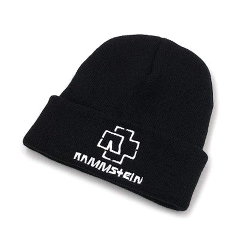 New Rammstein Knitted Beanie Hat High Quality Casual Beanies Cap For Men Women Winter Warm Knitted Hat Christmas Gifts