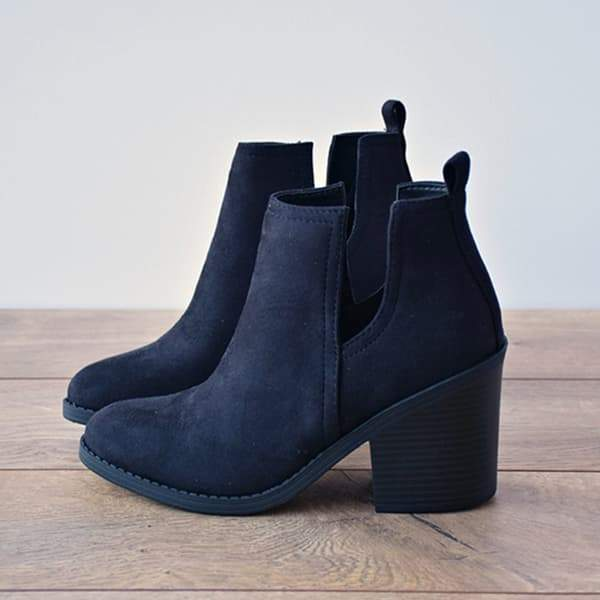 Lemmikshoes Ankle Pointed Chunky Boots